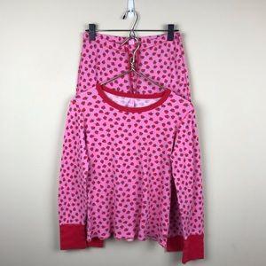 Victoria's Secret Thermal Strawberry Pajamas Sz M